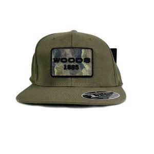 NWT Woods 1885 Green Snapback Cap